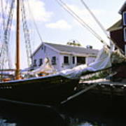 Bluenose II At Historic Properties Halifax Nova Scotia Art Print