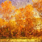 Gold Trees Art Print