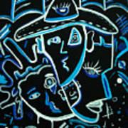 Blues Face Art Print
