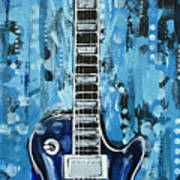 Blues Guitar Art Print