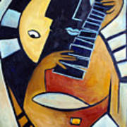 Blues Guitar Art Print