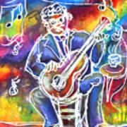 Blues Man Art Print by M C Sturman