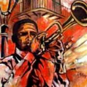 Blues On Bourbon Street Art Print