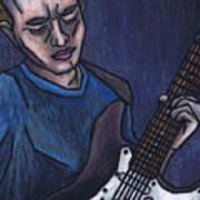 Blues Player Art Print