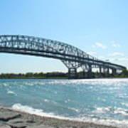Bluewater Bridges Art Print