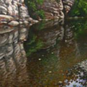 Bluff Reflections Buffalo River Art Print by Timothy Jones