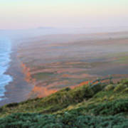 Bluffs And South Beach Point Reyes Art Print
