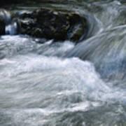 Blurred Detail Of A Mountain Stream Art Print