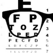 Blurry Eye Test Chart Art Print