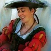 Blushing Bavarian Bridesmaid Art Print