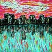 Blushing Metropolis Art Print