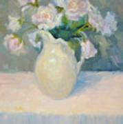 Blushing Roses Art Print
