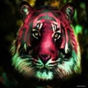 Blushing Tiger Art Print