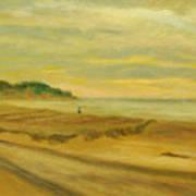 Blustery Day Zuma Beach Art Print