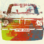 Bmw 2002 Front Watercolor 2 Art Print