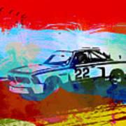Bmw 3.0 Csl Racing Art Print by Naxart Studio