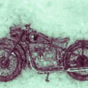 Bmw R32 - 1919 - Motorcycle Poster 3 - Automotive Art Art Print