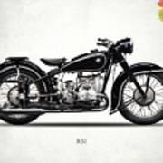 The R51 Motorcycle Art Print