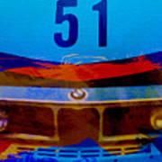 Bmw Racing Colors Print by Naxart Studio