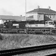 Bnsf Locomotive On Ns 192 Bw Art Print