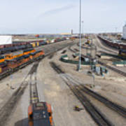 Bnsf Northtown Yard 6 Art Print