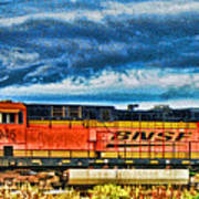 Bnsf Train Hdr Art Print