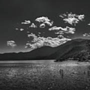 Bnw Lago De Coatepeque - El Salvador V Art Print