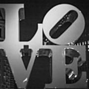 Bnw Philly Love 0218b Art Print