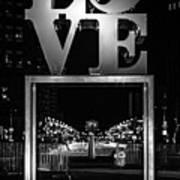 Bnw Philly Love 0218c Art Print