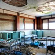 Boarding School Nightmare - Abandoned Building Art Print