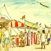 Boardwalk Artshow Virginia Beach Art Print
