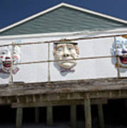 Boardwalk Clowns Art Print