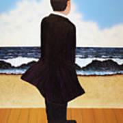 Boardwalk Man Art Print