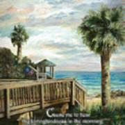 Boardwalk With Lifeguard Psalm 143 Art Print