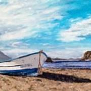 Boat Ashore Art Print