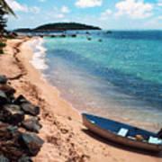 Boat Beach Vieques Art Print