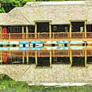 Boat House At Verona Park  Art Print