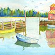 Boat House Art Print