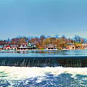 Boat House Row From Fairmount Dam Art Print