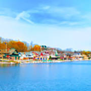 Boat House Row From West River Drive Art Print
