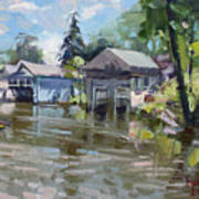 Boat Houses Art Print
