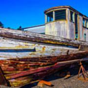 Boat In Dry Dock Art Print