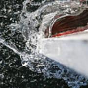 Boat In Water Art Print