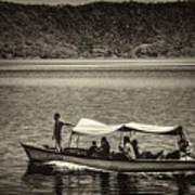 Boat - Lago De Coatepeque, El Salvador Art Print
