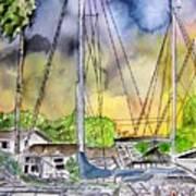Boat Marina Art Print