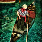 Boat Of Venice Art Print
