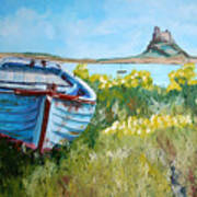 Boat On Lindisfarne. Art Print