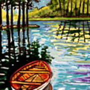 Boat On The Bayou Art Print