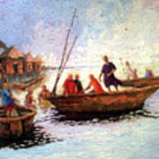 Boat Peaple Art Print