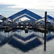 Boat Reflection On Lake Coeur D'alene Art Print